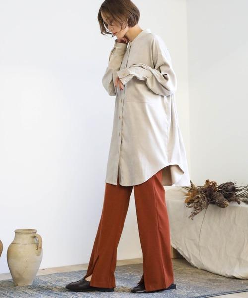 [select MOCA] 2020 A/W ライスコールオーバーシャツ/スタンドカラービックシルエットルーズシャツ
