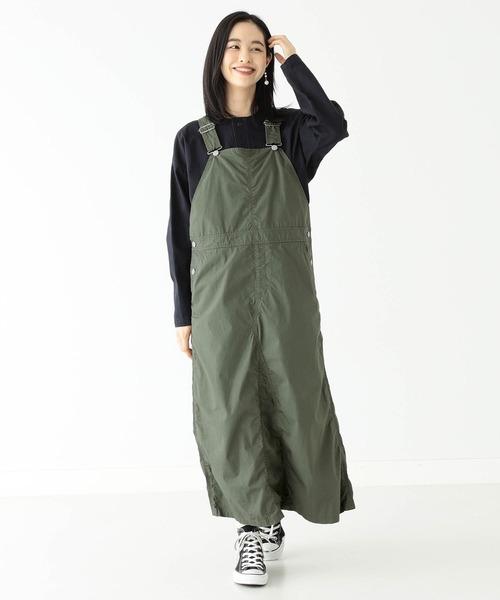 [BEAMS WOMEN] BEAMS BOY / コットン ポプリン ジャンプスカート