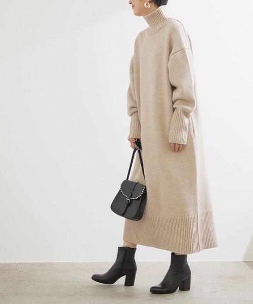 大阪|12月服装|ニットワンピースコーデ