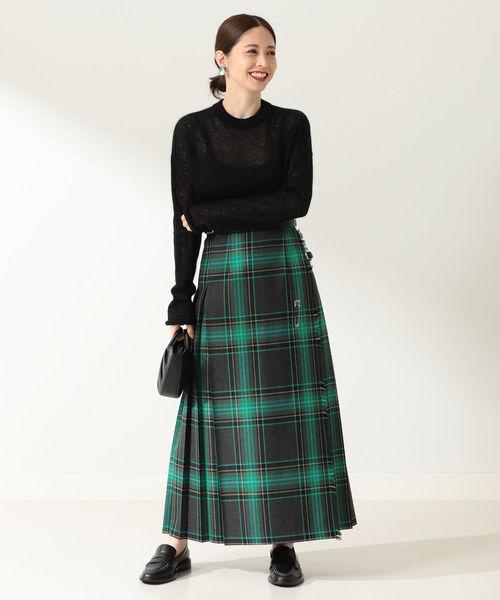 [BEAMS WOMEN] O'NEIL OF DUBLIN / MOYNALTY ロング キルトスカート