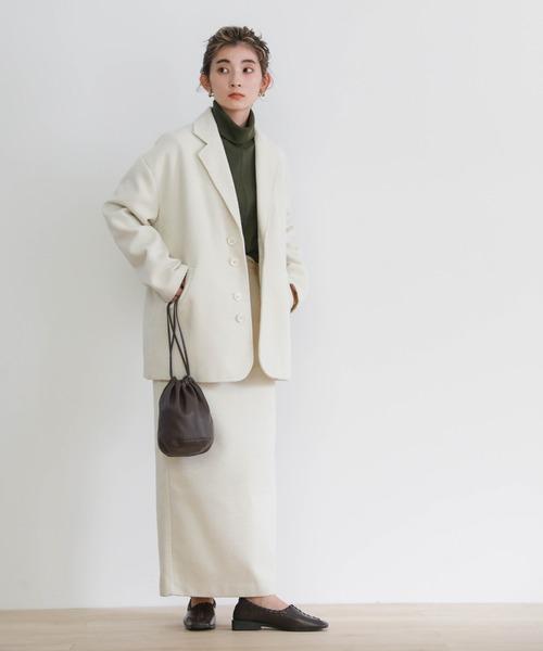 [select MOCA] 2020 A/W ツイードタイトスカート/ウールブレンドツイードロングスカート