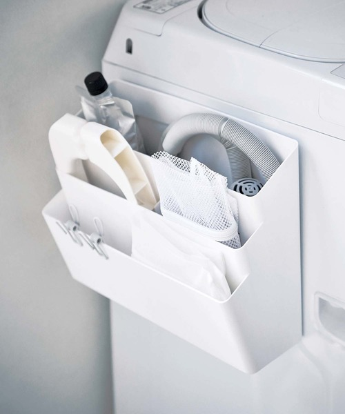 [CIAOPANIC TYPY] 【tower/タワー】洗濯機横マグネット収納ポケット3段 4296