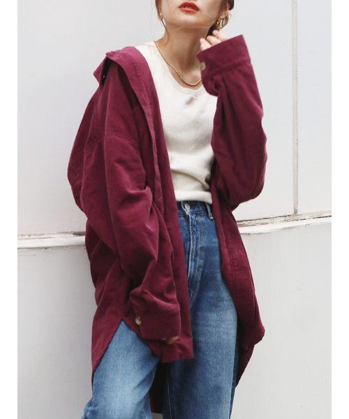 [Ungrid] コーデュロイビッグシャツ
