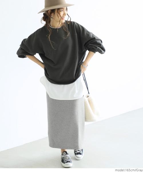 [coca] Iライン裏毛スウェットスカート