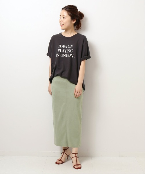 [Spick & Span] フェイクスエードストレッチタイトスカート◆