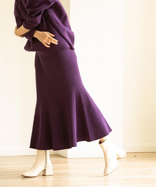 [Spick & Span] MINAニットマーメイドスカート◆