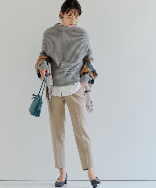 大人女子の冬のデートコーデ パンツ7