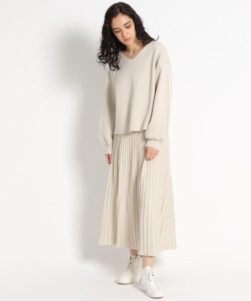 [niko and...] プリーツ風ミディ丈スカート