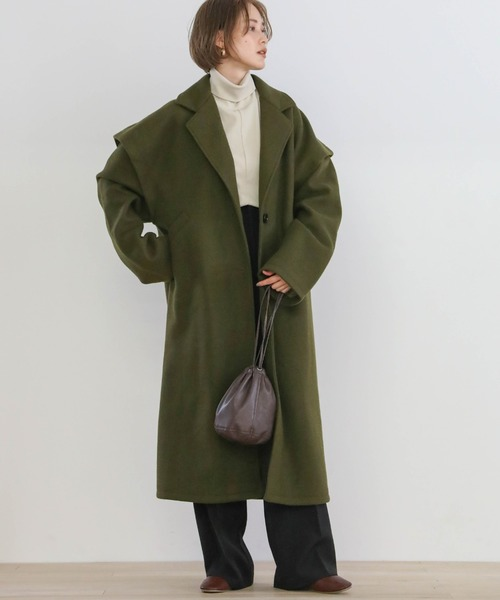 [select MOCA] 2020 A/W レイヤーオーバーテーラードコート/オーバーサイズバックスリットロング丈コート