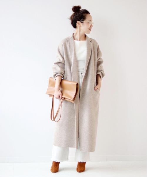 大阪|12月服装|白パンツコーデ