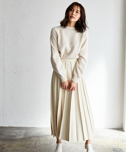 [FRAY I.D] ピンタックプリーツレザースカート