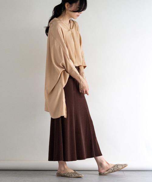 [ottilie] リブマーメイドスカート