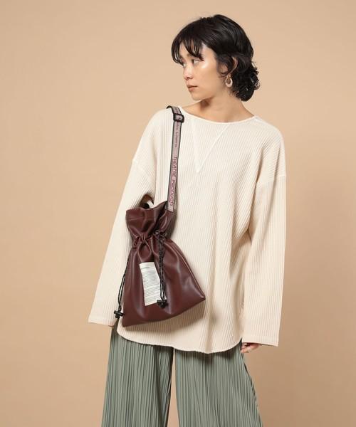 [FREAK'S STORE] THEATRE PRODUCTS×FREAK'S STORE/シアタープロダクツ 別注ECO LEATHER DRAW SHOULDER/別注エコレザードローショルダー
