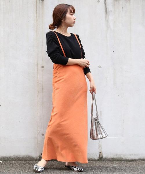 [CAPRICIEUX LE'MAGE] ピーチサテンマーメイドスカート