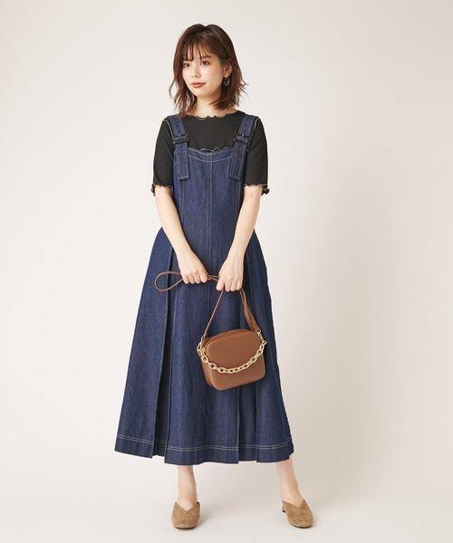 [natural couture] シャリとテレコ配色メローT