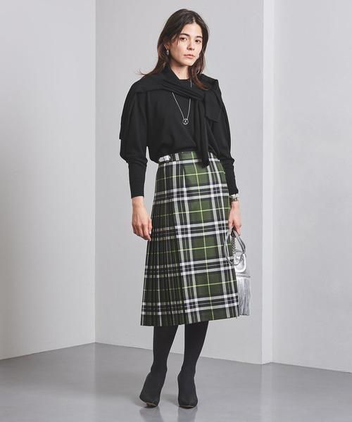 大人女子の冬のデートコーデ スカート5