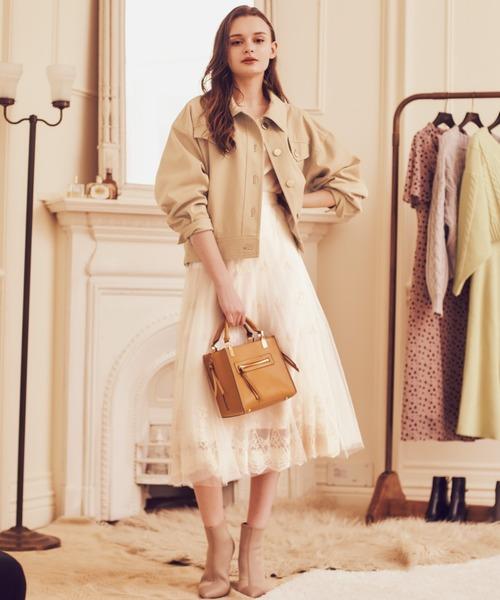 [Noela] 刺繍レーススカート
