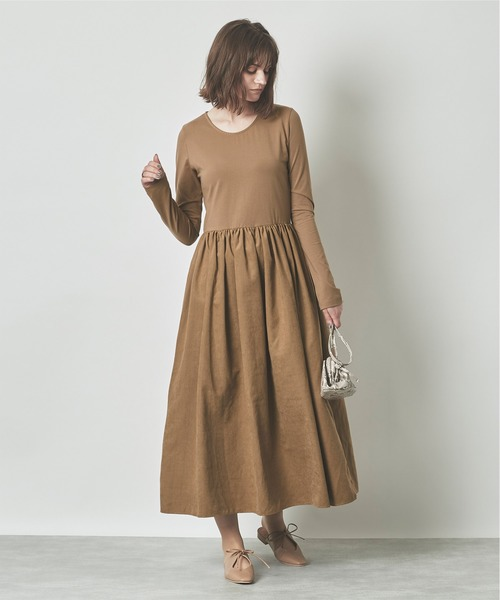 [titivate] ボリュームギャザースカートドッキングドレス