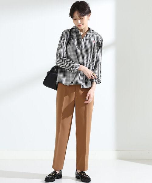[BEAMS WOMEN] Ray BEAMS / カラー ツイル テーパード パンツ