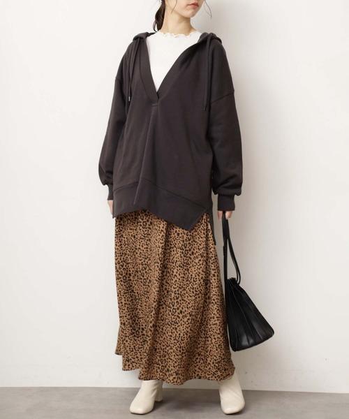 [FREE'S MART] ◆レオパードマキシスカート