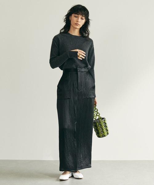 [GALLARDAGALANTE] ヴィンテージサテンスカート
