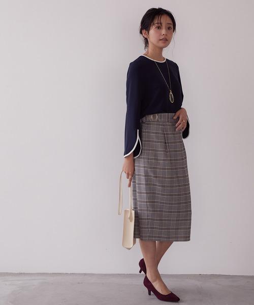 [ViS] 【WEB限定Lサイズ】サイドバックルIラインスカート
