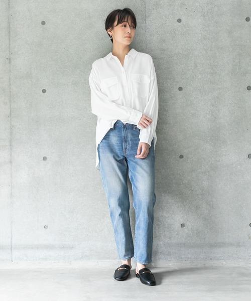 [koe] 【2020AW】カルゼワークシャツ(ビッグシルエットシャツ/ブラウス)〇