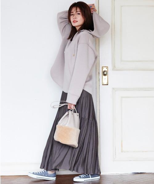 [BABYLONE] 【WEB限定カラーあり】ヴィンテージサテンスカート