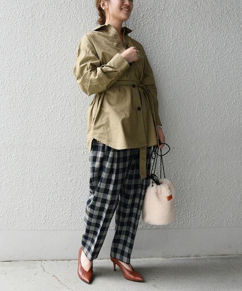 [SHIPS for women] SHIPS any:バフピーチ フラップシャツジャケット◇