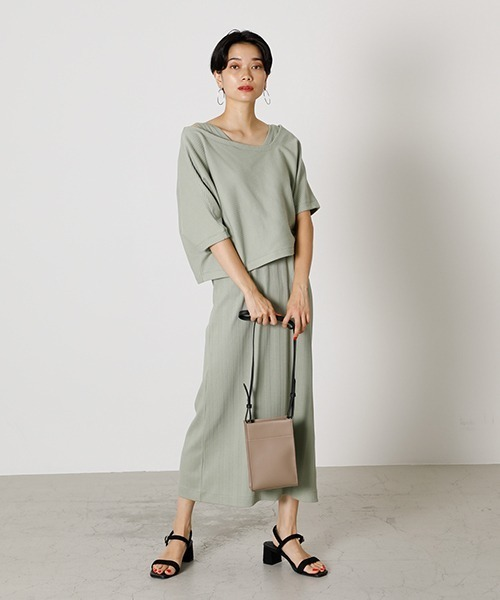 [AZUL BY MOUSSY] LAYERED 3WAY CUT ONEPIECE/レイヤード3ウェイカットワンピース