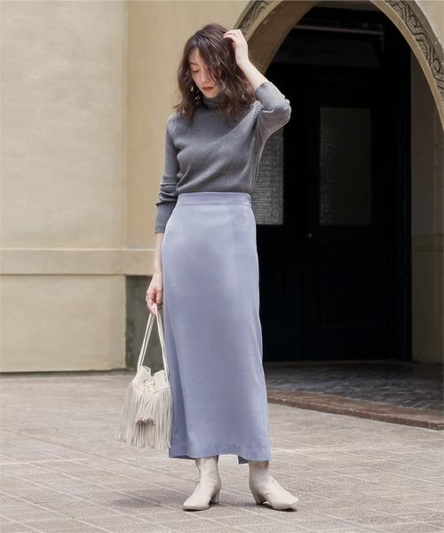 [ur's] ロングタイトスカート