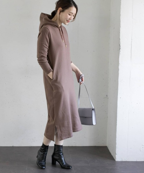 [URBAN RESEARCH ROSSO WOMEN] 【WEB限定】パーカーワンピース