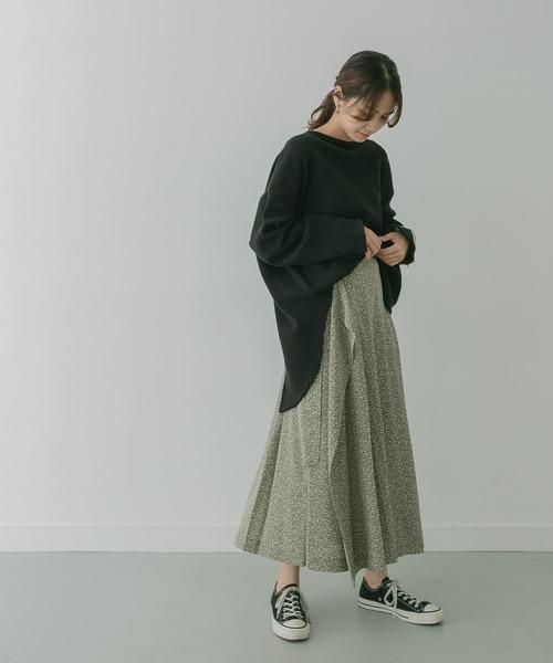 [KBF] KBF+ 柄プリーツラップスカート