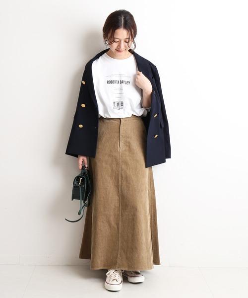 [IENA] 13Wコールマーメイドスカート【手洗い可能】◆