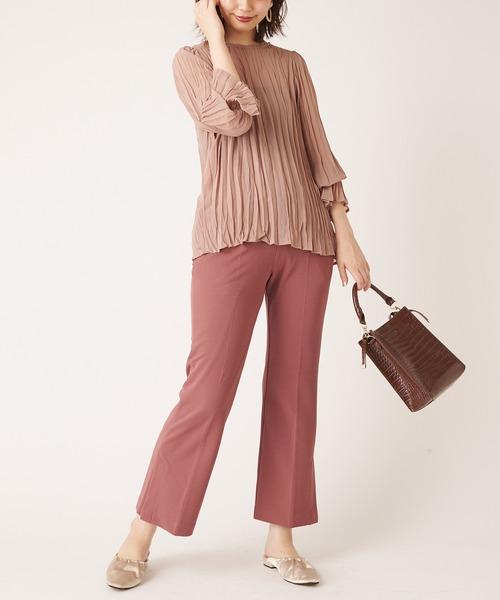 [natural couture] カットカルゼフレアパンツMサイズ