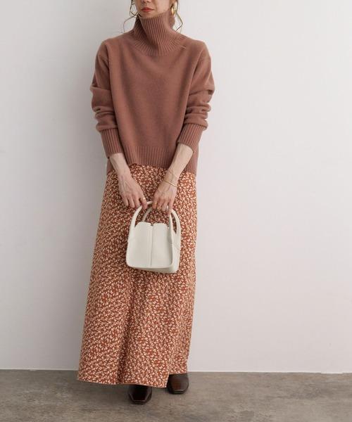 大阪|12月服装|柄スカートコーデ