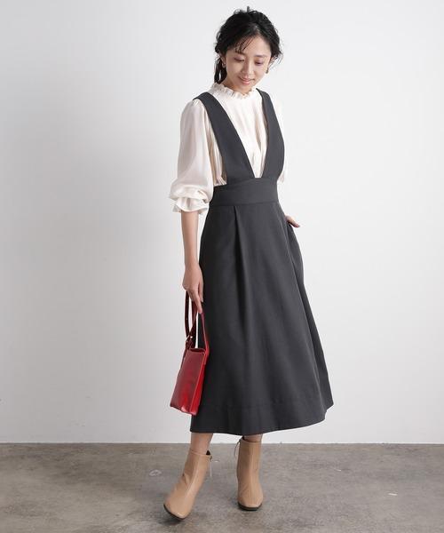 [ViS] ハイウエストジャンパースカート