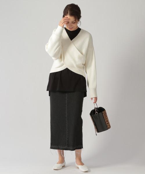 [Ezick] デニムタイトスカート