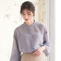 葡萄カラーで秋感アップ♡パープルのシャツ&ブラウススタイル15選