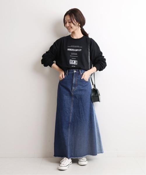 [IENA] Roberta bayley グラフィックロンTEE【洗濯機使用可能】◆