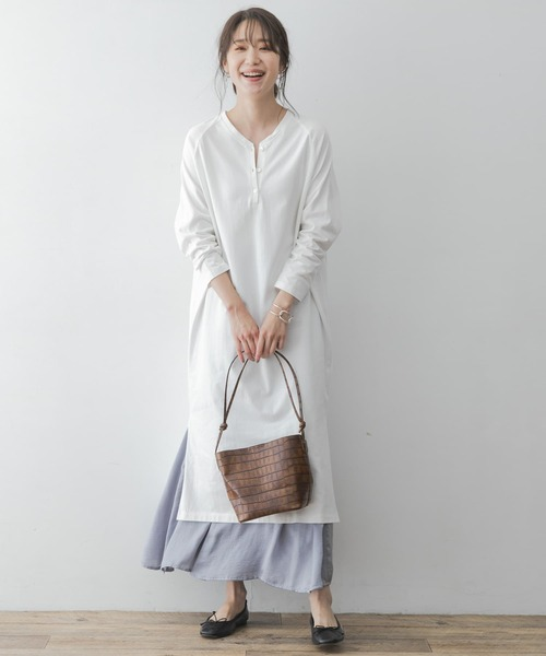 [URBAN RESEARCH ROSSO WOMEN] F by ROSSO ヘンリーネック2WAYワンピース