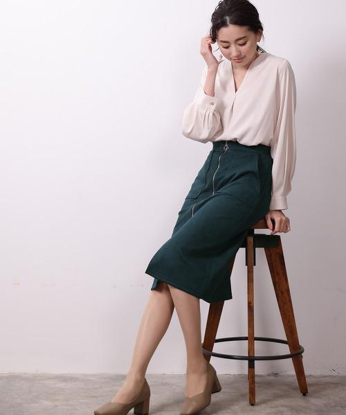 [ASTORIA ODIER] スエードボンディングスカート