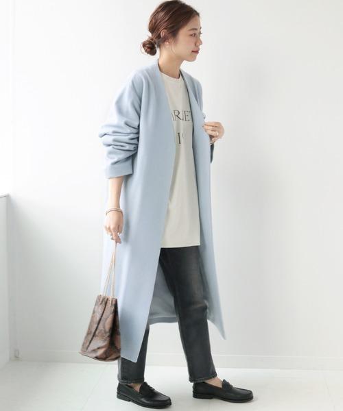 大阪|12月服装|ブルーコートコーデ