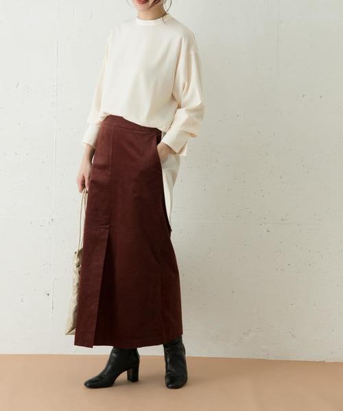 [URBAN RESEARCH ROSSO WOMEN] ベロアIラインスカート