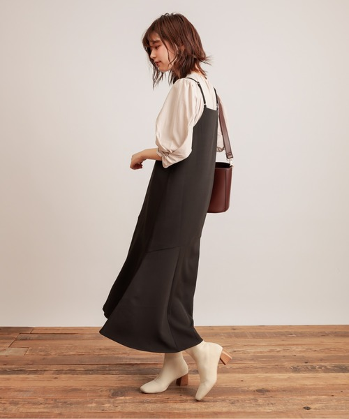 [natural couture] 【WEB限定】前後2WAYちび釦キャミワンピース