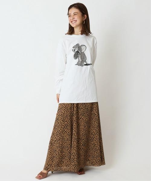 [Spick & Span] レオパード スカート◆