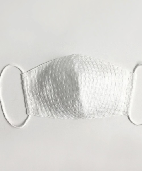 [KIMONO MODERN] 接触冷感!透ける素材の冷感マスク(防臭増菌防止加工)-格子レース