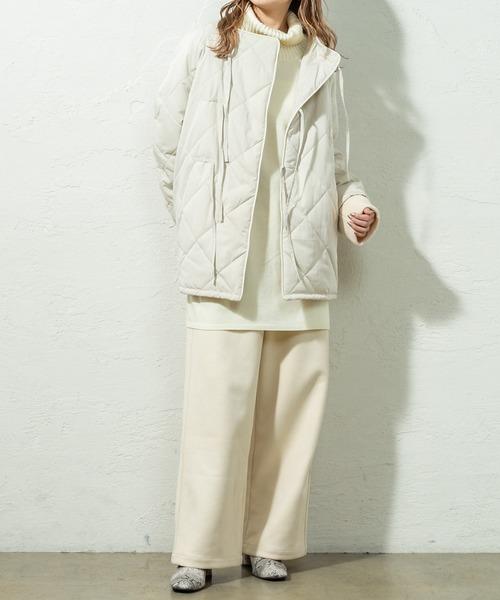 キルティングジャケットの服装
