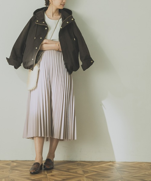 [URBAN RESEARCH] レザーライクプリーツスカート