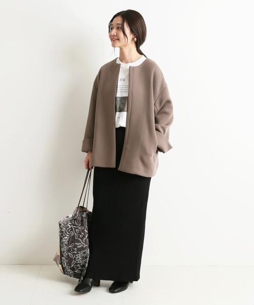 大阪|12月服装|ノーカラーブルゾンコーデ